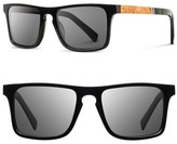 Shwood 'Govy' 52mm Polarized Wood Sunglasses