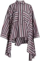 Palmer Harding PALMER/HARDING Poet striped patch-pocket cotton-blend shirt