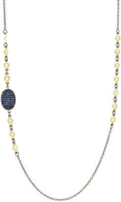 Freida Rothman Pave Oval-Station Necklace