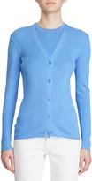 Ralph Lauren Silk Button-Front Cardigan