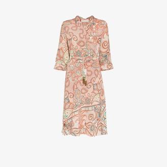 Etro Paisley Silk Wrap Dress