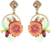 Betsey Johnson Tropical Flower Cluster Round Drop Earrings Earring