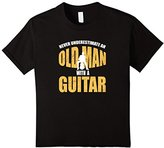 Never Underestimate An Old Man With A Guitar - Funny T-Shirt