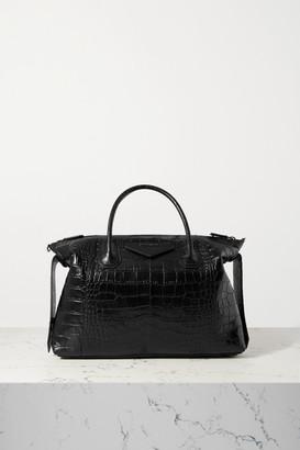 Givenchy Antigona Soft Medium Croc-effect Leather Tote - Black