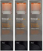 Viviscal Conceal & Densify Volume Hair Fibres - Black (3 pack)