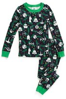 Hanna Andersson Boy's 'Star Wars(TM) Holiday' Organic Cotton Two-Piece Fitted Pajamas