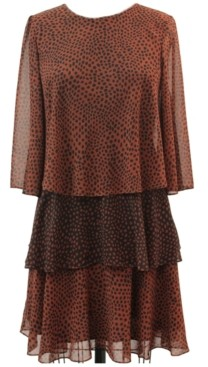 Taylor Tiered Chiffon Bell-Sleeve Dress