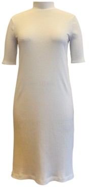 Style&Co. Style & Co Rib-Knit Mock-Neck Dress, Created for Macy's