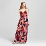 Mossimo Women's Crochet Maxi Dress Purple Print