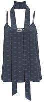 AG Jeans Women's Lisette Silk Tank & Scarf