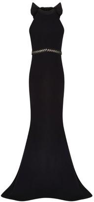 Safiyaa Halterneck Bow-Detail Gown