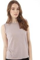 Brave Soul Womens Danie Sleeveless T-Shirt Dusty Rose