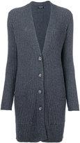 Twin-Set deep v-neck ribbed cardigan - women - Cashmere/Wool/Viscose/Polyamide - S