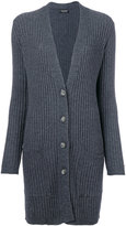 Twin-Set deep v-neck ribbed cardigan - women - Polyamide/Viscose/Cashmere/Wool - S