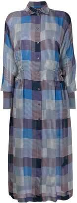 Frenken checked shirt dress