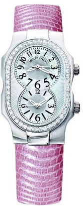Philip Stein Teslar 1d-f-famop-zromLadies WatchAnalogue QuartzMother of Pearl Dial Pink Leather Strap