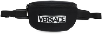 Versace Rubberized Patch Nylon Belt Bag