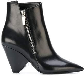 Saint Laurent Niki 85 asymmetrical boots