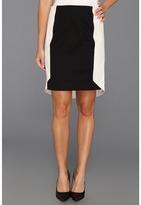 DKNY DKNYC - Pencil Skirt w/ Contrast (Stone) - Apparel
