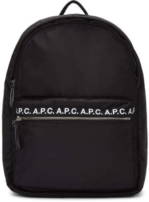 A.P.C. Black Repeat Backpack