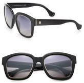 Balenciaga 52MM Square Acetate & Metal Sunglasses