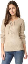 Capulet Brighton Henley Lace Up Sweater