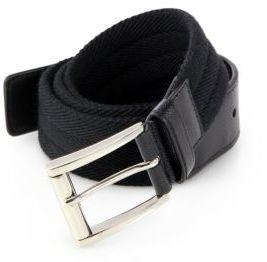 Prada Wool & Saffiano Belt