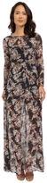Brigitte Bailey Marche Floral Sheer Maxi w/ Slip