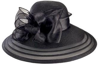 San Diego Hat Co. Lightweight Dressy Black Hatw/ Organza Bow