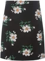 Dorothy Perkins Black Floral Print Mini A-Line Skirt