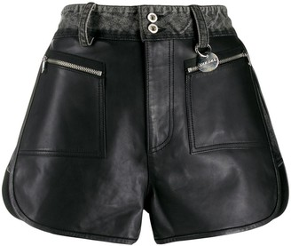 Diesel denim waisted A-line shorts