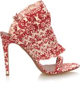 Tabitha Simmons Flouncy floral-print linen sandals