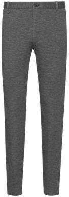 HUGO Extra-slim-fit trousers in melange jersey with stretch