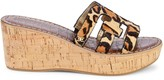 Sam Edelman Regis Leopard-Print Calf Hair Wedge Sandals