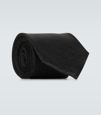 Tom Ford Textured woven silk tie