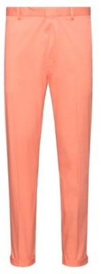 HUGO BOSS Extra Slim Fit Pants In Stretch Cotton - Light Orange