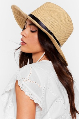 Nasty Gal Womens Hats Off to You Straw Panama Hat - Cream