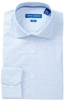 Vince Camuto Pattern Stripe Trim Fit Dress Shirt