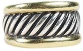 David Yurman 14K Yellow Gold and Sterling Silver Band Ring Size 6.75
