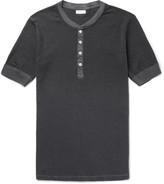 Schiesser - Karl Heinz Striped Cotton-jersey Henley Pyjama T-shirt