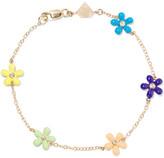 Alison Lou Wild Flower Enameled 14-karat Gold Diamond Bracelet - one size