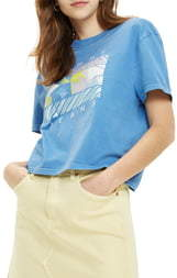 Tommy Jeans TJW Summer Surf Flag Graphic Crop Tee