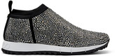 Jimmy Choo NORWAY Black Knit trainerss with Hot Fix Crystals