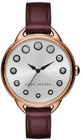 Marc Jacobs Betty Rose Goldtone and Leather Crystal-Accented Watch SLMLG36IPRGBRGST