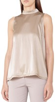Reiss Blaire Satin-Front Top