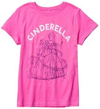 Junk Food Kids Disney Cinderella T-Shirt (Little Kids/Big Kids) (Hot Pink) Girl's Clothing