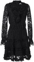 Alexis choker detail knitted dress - women - Cotton/Nylon/Polyester/Rayon - XS