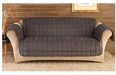 Sure Fit Quilted Sofa Pet Throw, Mini Check Black/Brown