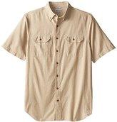 Carhartt Men's Big & Tall Fort Short Sleeve Shirt Lightweight Chambray Button