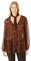 Jessica Simpson Women's 'Cerena' Crinkle Blouse With Scarf
